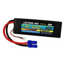 Lectron Pro 7.4V 5200mAh 50C Lipo Battery with EC5 Connector Cars & Trucks Losi ECX 2S5200-505