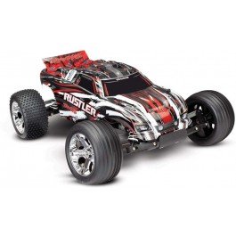 Traxxas 37054-4-RED Rustler 1/10 RTR 2WD Electric Stadium Truck (Red)