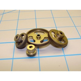 Calandra Racing Concepts CRC64046 Aluminum Machined Pinion Gear 64 Pitch 46 Tooth (Gold Standard)