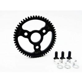 hrasjt254 steel spur gear (54t 0.8 mod)(silver) - traxxas