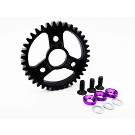 hrasrvo438 steel spur gear (38t 1.0 mod)(purple) - traxxas