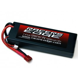 Racers Edge LP2SHD5000DS 5000mAh 7.4v 2S LiPo Battery w/ Hardwired Deans Plug