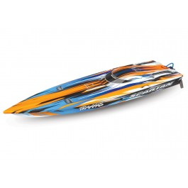 Traxxas 57076-4-ORNG Spartan Brushless 36 Racing Boat RTR w/ TQi 2.4GHz & TSM (Orange)