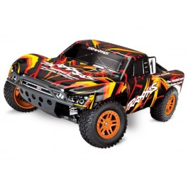 Traxxas Slash 68054-1 4X4 1/10 Scale 4WD Electric Short Course Truck Brushed Orange/Red