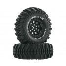 Duratrax DTXC4026 Deep Woods CR C3 Mntd 1.9 inch Crawler Black (2)