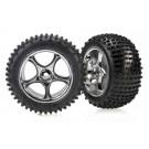 TRA2470R Traxxas Tires & wheels, assembled