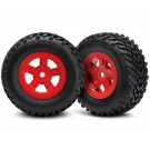TRA7674R Traxxas Tires and wheels, assembled, glued