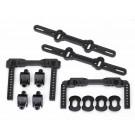 TRA8316 Traxxas Body mounts, front & rear/ body mount posts/ body mount sliders