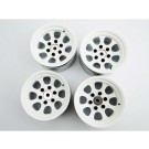 hrablw19ss38 steel 1.9 beadlock 6-lug wagon wheels for 12mm hex (white) (4)