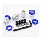 hrajt107w06 17mm hex wheel adapters with 8mm extension - traxxas jato