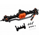 hrascx12xf03 front axle assembly aluminum (orange) - axial scx10