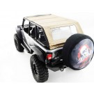 hrascx14jst08 jeep 4 dr soft top tan silver rod