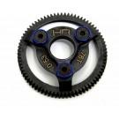 hraste876 hardened steel spur gear (76t 48p)(blue) - traxxas