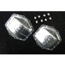 hrawra12c08 aluminum ar60 axle diff covers (silver) - axial yeti wraith ax10