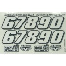 Mcallister Racing #S67890 Speedway Small Numbers Decal Sheet