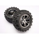 TRA4983A Traxxas Tires & wheels, assembled, glued