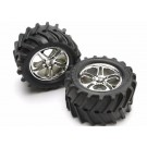 TRA5173 Traxxas Tires & wheels, assembled, glued