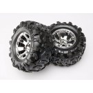 TRA5673 Traxxas Tires & wheels, assembled, glued