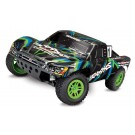 Traxxas Slash 68054-1 4X4 1/10 Scale 4WD Electric Short Course Truck Brushed Green/Blue