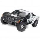 Traxxas 68086-4 Slash 4X4 RTR Short Course Truck White Fox Racing w/TQi Radio System (TSM)
